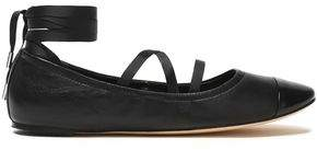 Sigerson Morrison Matte And Patent-Leather Ballet Flats