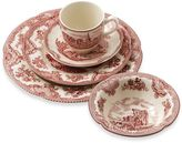 Johnson Bros. Old British Castles 5-Piece Place Setting in Pink