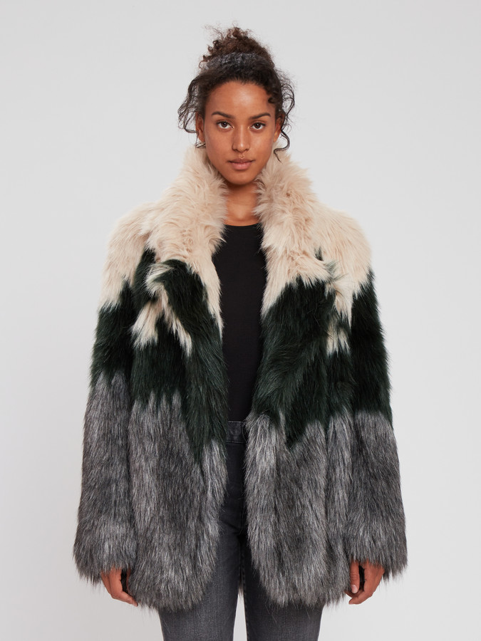 Smythe Faux Fur Oversized Car Coat