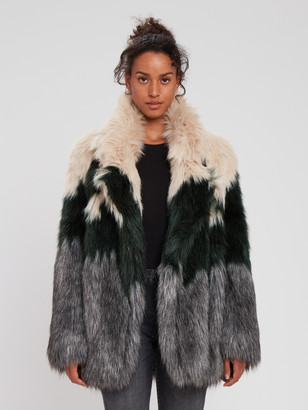 Smythe Faux Fur Oversized Car Coat