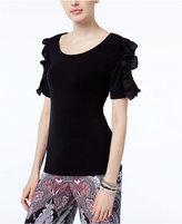 INC International Concepts Ruffle-Sleeve Top, Created for Macy's