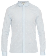 Gucci Cambridge-fit Bee And Star-jacquard Shirt