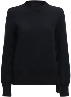 Sacai Cotton Jersey Sweatshirt W/pleats
