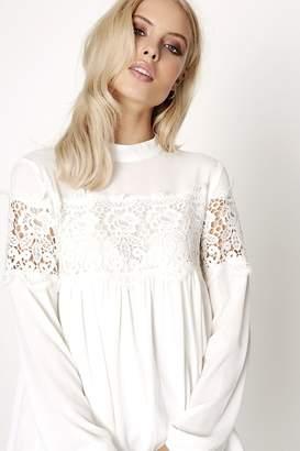 Girls On Film White Crochet Top