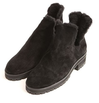 The Kooples Buckskin Boots With Fake Fur