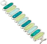 Robert Lee Morris Large Aqua Stone Flex Bracelet