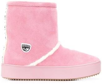 Chiara Ferragni Sheep Skin Boots