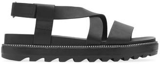 Sorel Roaming Flat Leather Slingback Sandals