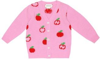 Gucci Kids Baby cotton-jacquard cardigan