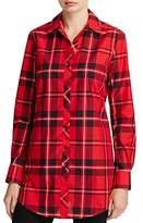 Foxcroft Fay Tartan Button Down Tunic