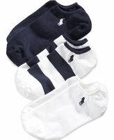 Ralph Lauren Girls' and Little Girls' 3-Pack Striped Rugby Socks