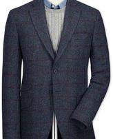 Charles Tyrwhitt Slim fit navy check British tweed jacket