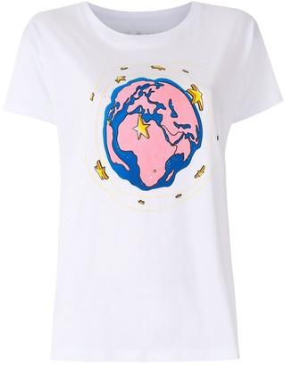 Armani Exchange x Natasha Duke world print T-shirt