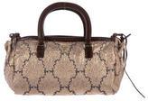 Prada Brocade Leather-Trimmed Evening Bag