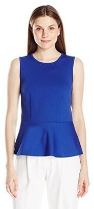 Lark & Ro Amazon Brand Women's Ponte Sleeveless Peplum Top