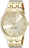 Nine West Women's NW/1756CHGB Easy To Read Dial Gold-Tone Bracelet Watch