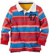 Carter's Striped Rugby (Toddler/Kid) - Red-2T