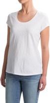 Cynthia Rowley Hi-Lo Slub T-Shirt - Pima Cotton, Scoop Neck, Short Sleeve (For Women)