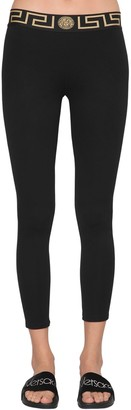 Versace Logo Band Viscose Leggings