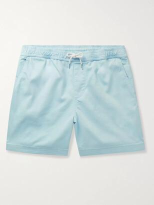 NN07 Gregor Stretch-Cotton Twill Drawstring Shorts