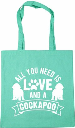 Hippowarehouse All you need is love and a Cockapoo Tote Shopping Gym Beach Bag 42cm x38cm 10 litres