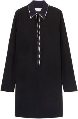 Victoria Victoria Beckham Crystal-embellished Crepe Mini Dress