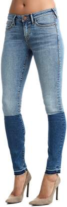 True Religion Halle Mid Rise Colorblock Jeans