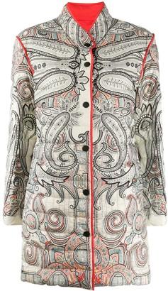 Etro Padded Paisley Print Coat