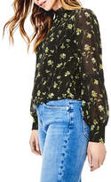 Oasis Daffodil Lace Trim High Neck Top
