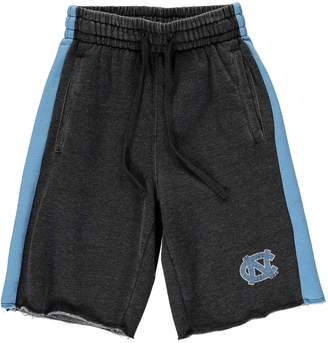 Colosseum Youth Charcoal/Carolina Blue North Carolina Tar Heels The Majors Fleece Shorts
