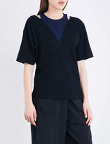 Izzue Contrast-panel cotton-jersey T-shirt