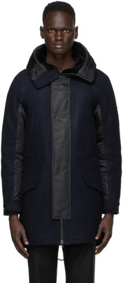 Yves Salomon   Army Yves Salomon - Army Navy and Black Wool Parka