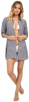 Tommy Bahama Gingham Boyfriend Shirt Cover-Up