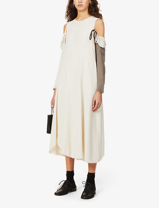 Song For The Mute Detachable long-sleeve woven maxi dress