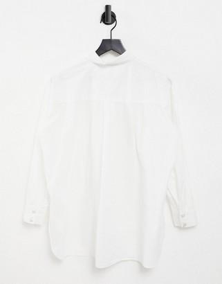 Pimkie poplin shirt in white