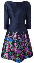 Oscar de la Renta boat neck floral dress - women - Silk/Cotton - 8