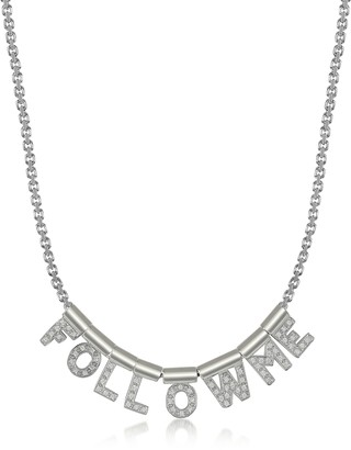 Nomination Sterling Silver and Swarovski Zirconia Follow Me Necklace