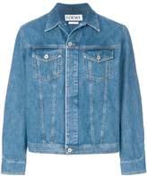 Loewe oversized washed denim jacket
