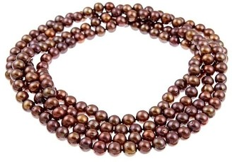 DaVonna 8-9mm Brown Freshwater Pearl Endless Necklace, 64-inch