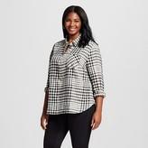 Merona Women's Plus Size Favorite Shirt Black