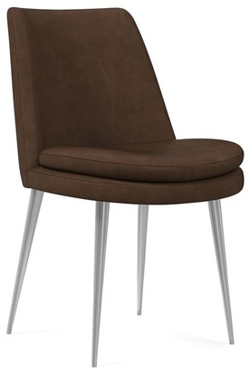 west elm Finley Low Back Vegan Leather Dining Chair