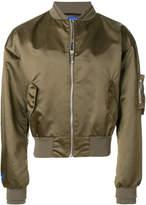 MAISON KITSUNÉ X Ader Error zipped bomber jacket
