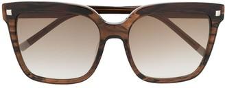 Calvin Klein Tortoiseshell Squared Frame Sunglasses