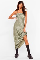 Nasty Gal Womens Star Power Satin Maxi Dress - Black - 4