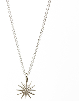 Dogeared Sterling Silver Accomplish Magnificent Things Starburst Reminder Necklace, Silver