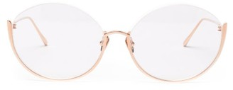 Linda Farrow Rae 18kt Rose-gold Plated Titanium Glasses - Rose Gold
