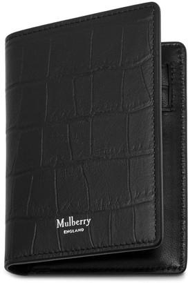 Mulberry Card Wallet Black Matte Croc