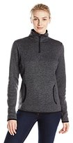 Charles River Apparel Women's Heathered-Fleece Pullover