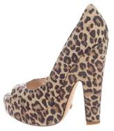 Jerome C. Rousseau Leather Platform Pumps