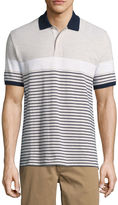 ST. JOHN'S BAY St. John's Bay Short Sleeve Stripe Knit Polo Shirt